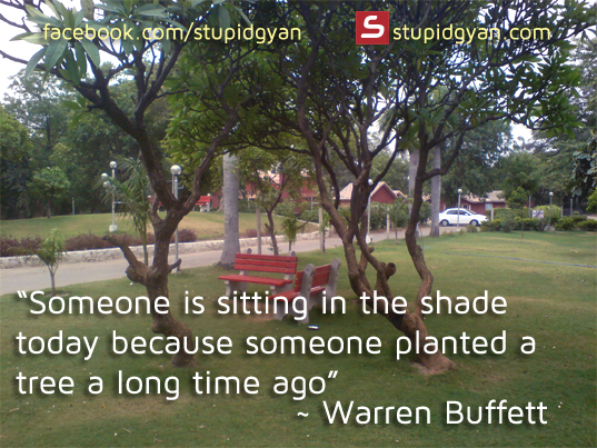someone is sitting in the shade